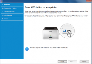 How to find wps pin on Samsung printer