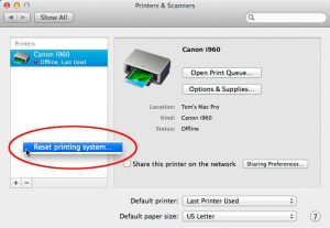 canon printer is not your default printer