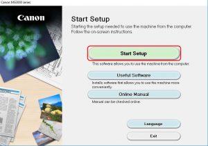 start setup canon printer