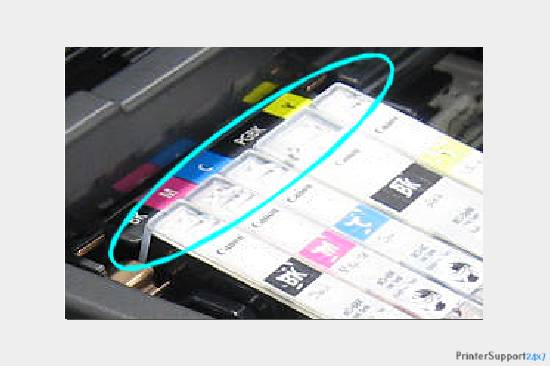 Remove color packages - canon mx430 printer error 5100