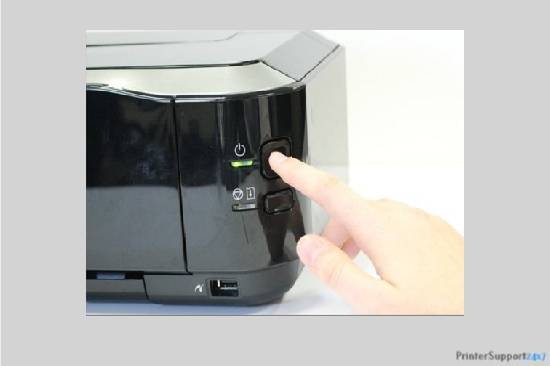 Press the power button - canon printer mx850 error code b200