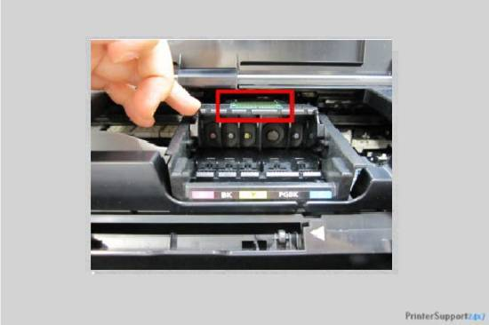 Reinstall the print head - canon printer error code b200