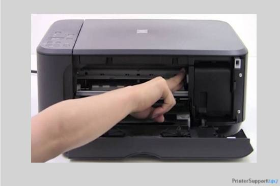 Remove the stuck paper - canon printer error b200