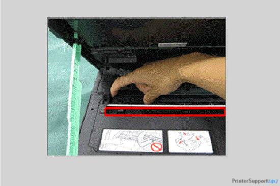 Turn the print head left side - canon printer error b200