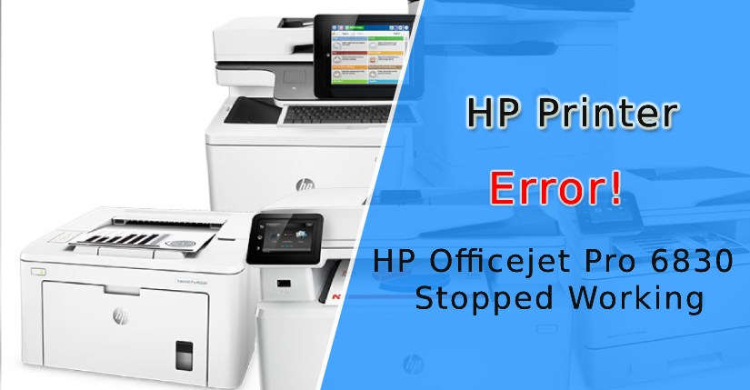 "My Printer HP Officejet Pro 6830 Stopped Working, Flasing Power Lights And ""C4EBA341"""